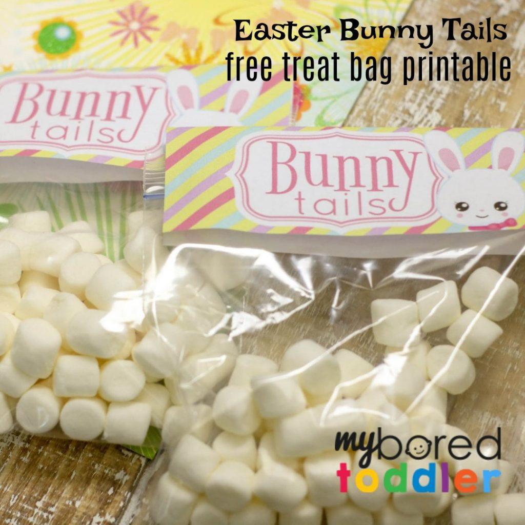 Easter Bunny Tails – Free Printable Treat Bags for Easter