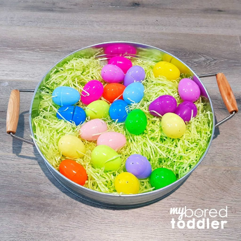 easter egg hunt for colors with eggs step 2