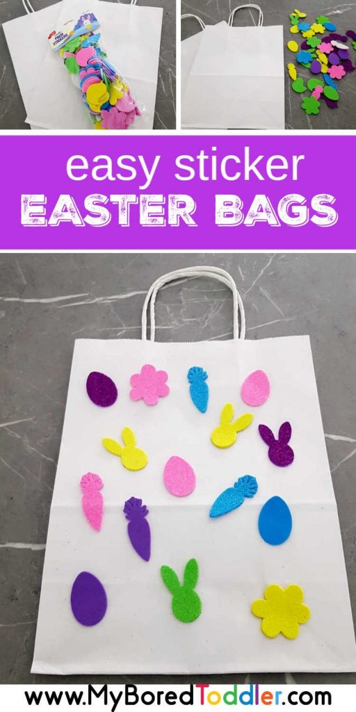 Easy sticker Easter Bags for Toddlers Pinterest 1