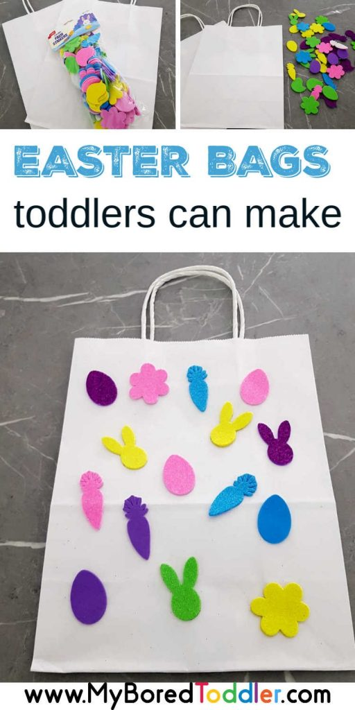 Easy sticker Easter Bags for Toddlers Pinterest 2
