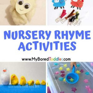 nursery rhyme crafts and activities for toddlers and babies