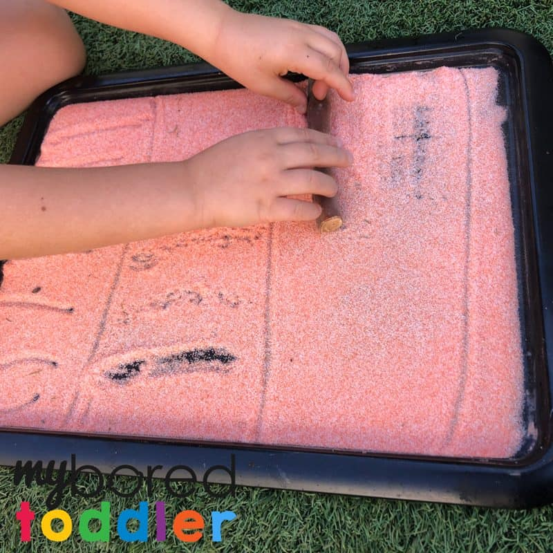 salt drawing sensory and fine motor play for toddlers