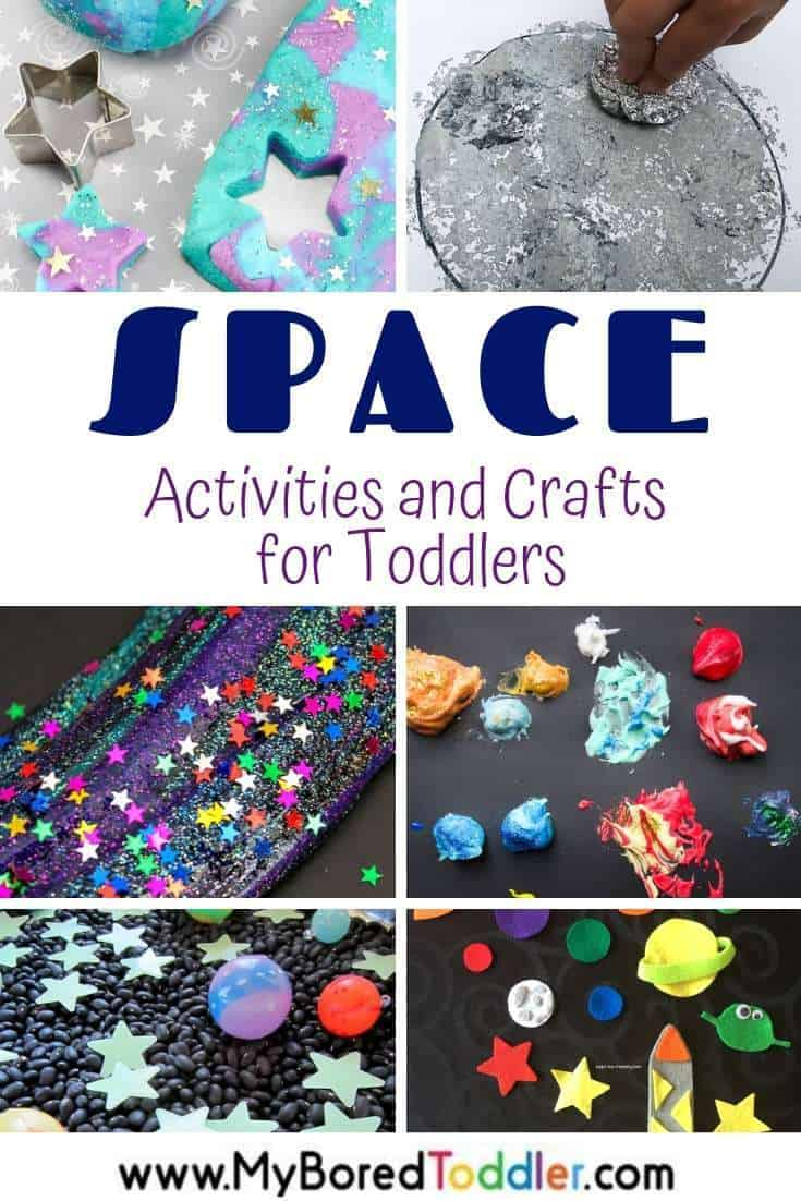 Space activities and craft ideas for toddlers and preschoolers