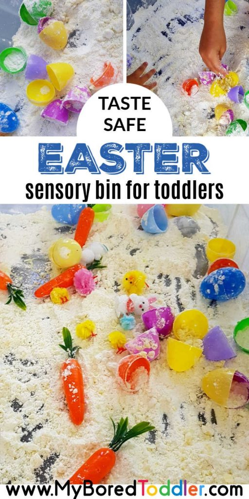 easter egg cloud dough sensory bin pinterest 2