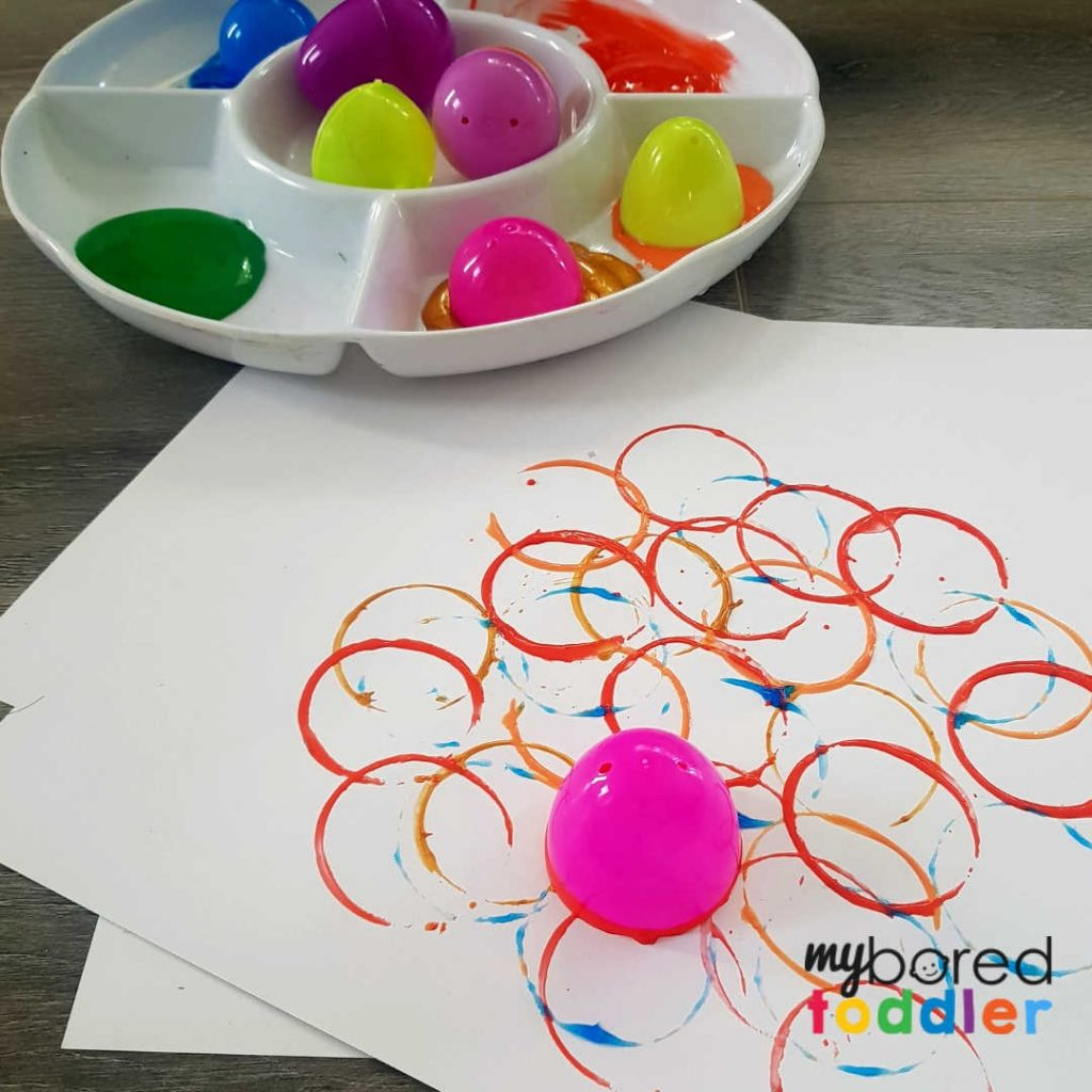 Plastic Easter Egg Printing For Toddlers My Bored Toddler