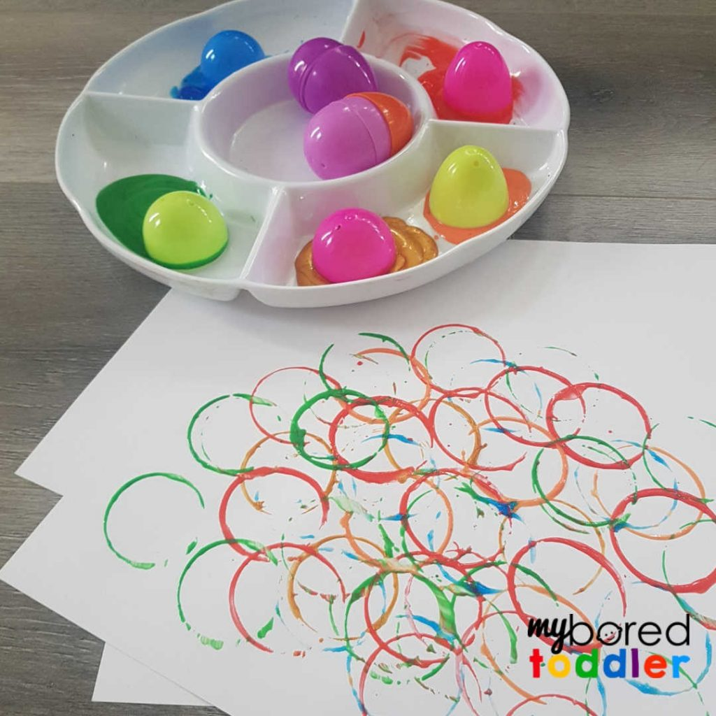 easter egg painting craft for toddlers step 3