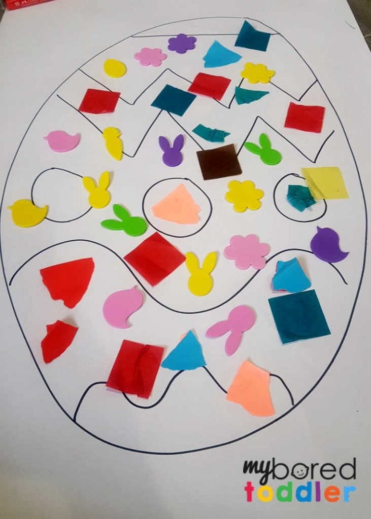 Easy Easter Egg Collage Craft for Toddlers