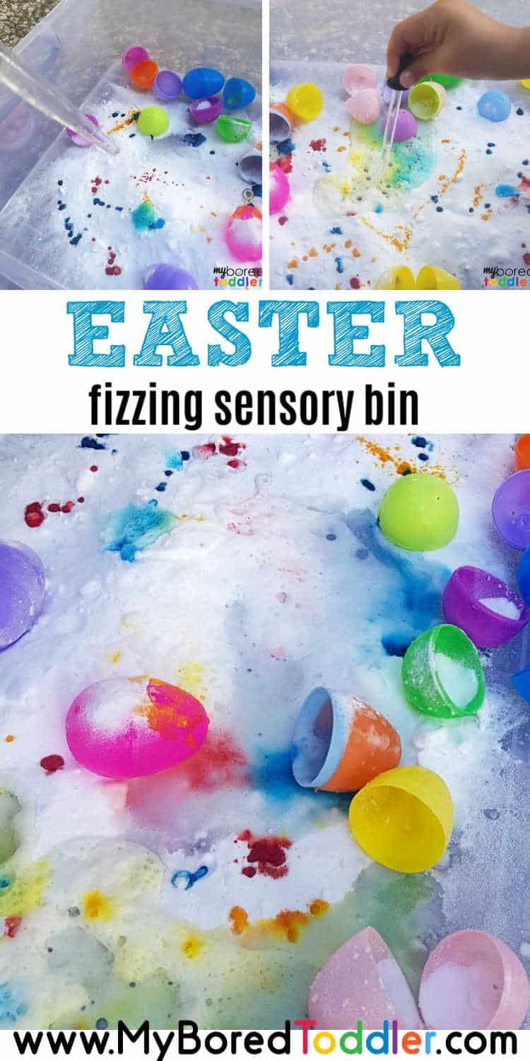 fizzing easter egg sensory bin for toddlers pinterest 2