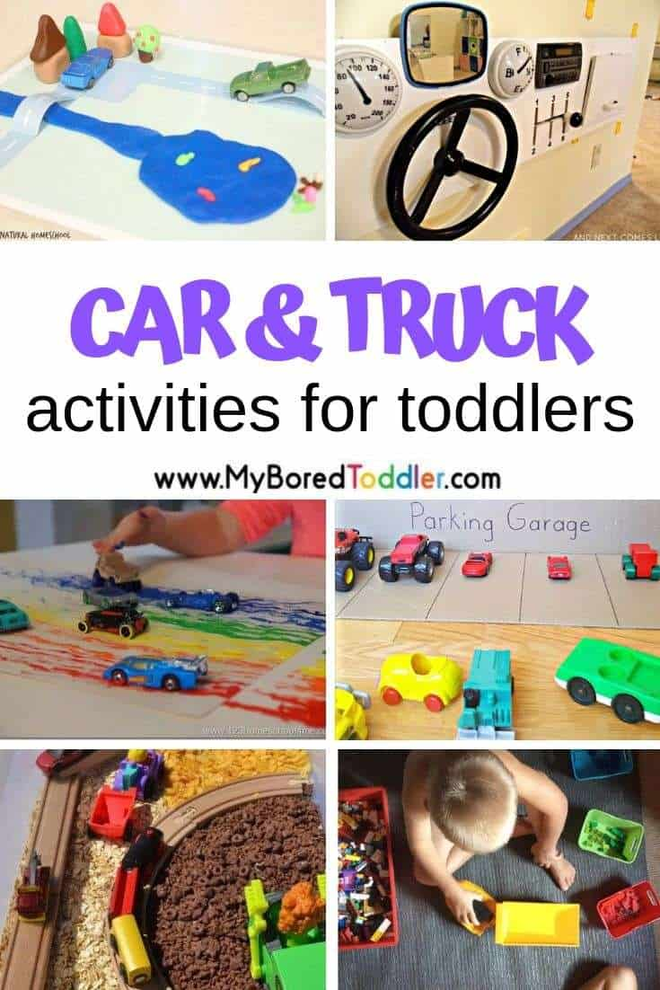 Car And Truck Themed Toddler Activities My Bored Toddler