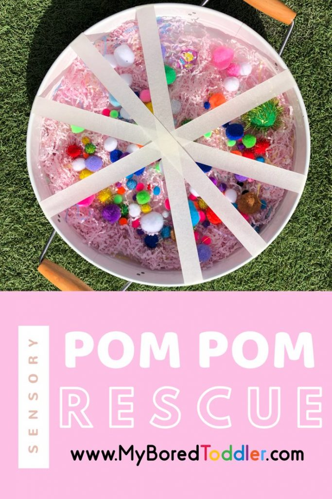 pom pom rescue sensory and fine motor play for toddlers