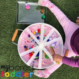 sensory pom pom rescue fine motor play activity for toddlers