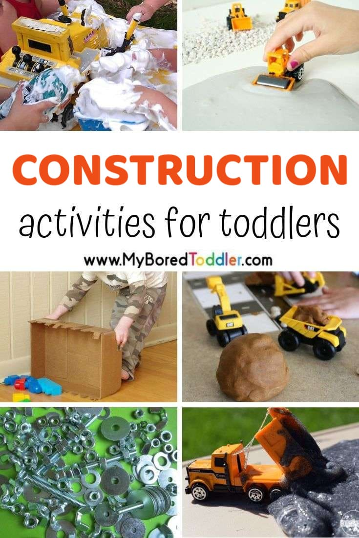 Construction themed activities for toddlers and preschoolers