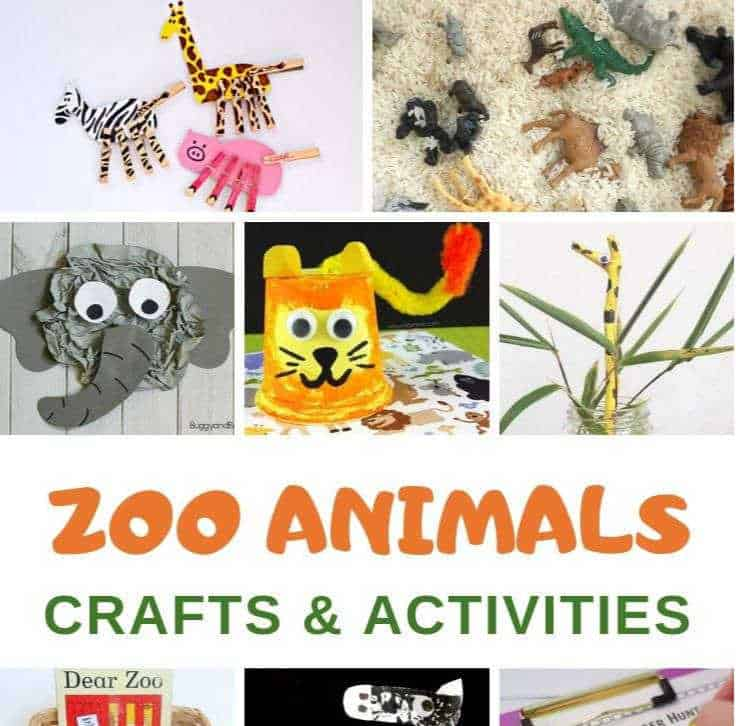zoo animal crafts and activities for toddlers