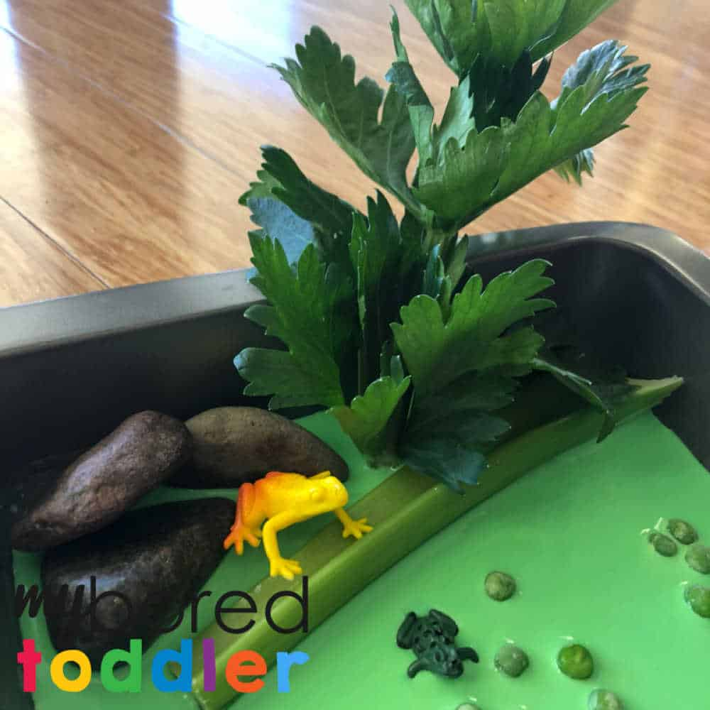 crocodile swamp sensory bin messy play oobleck for toddlers