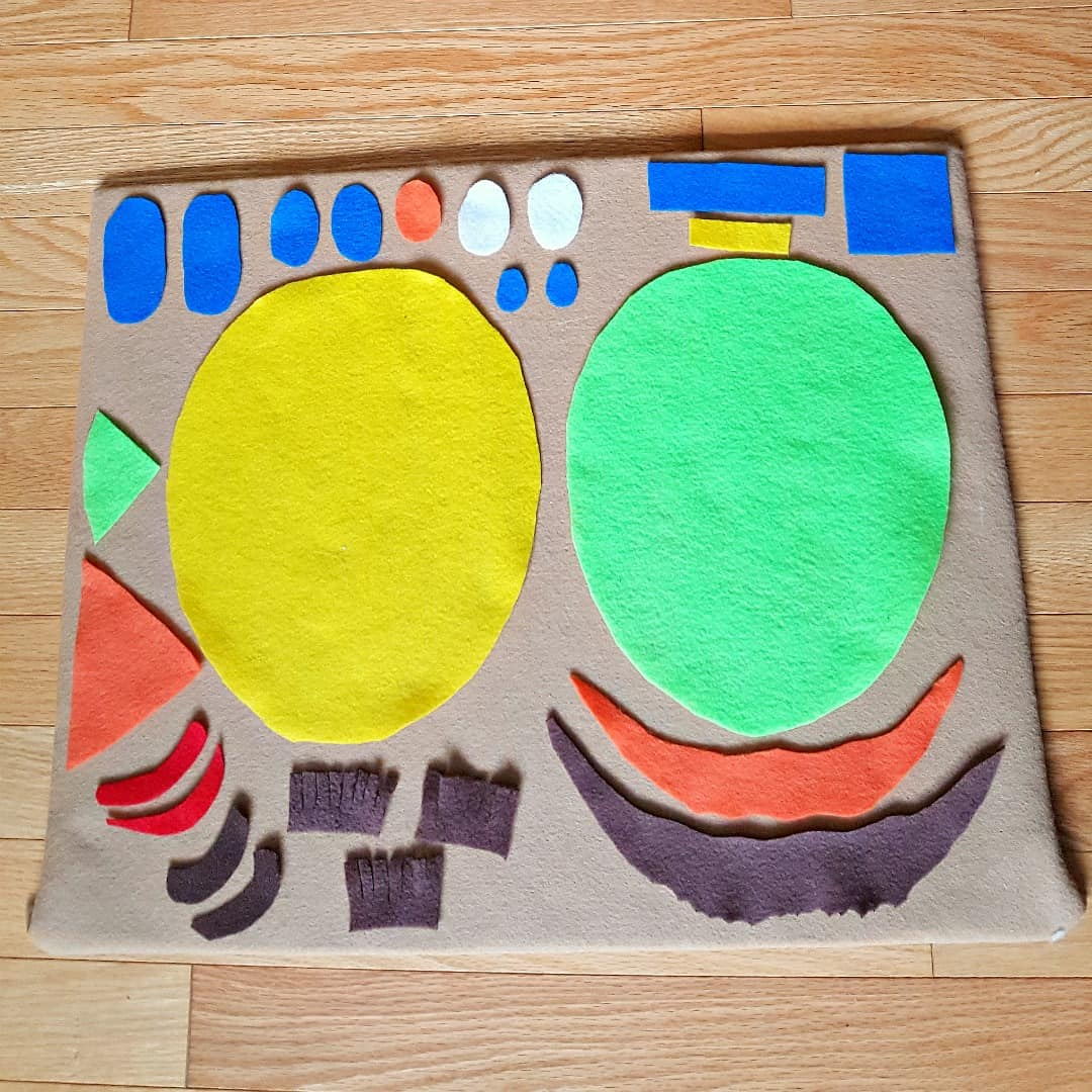 felt faces toddler activity idea