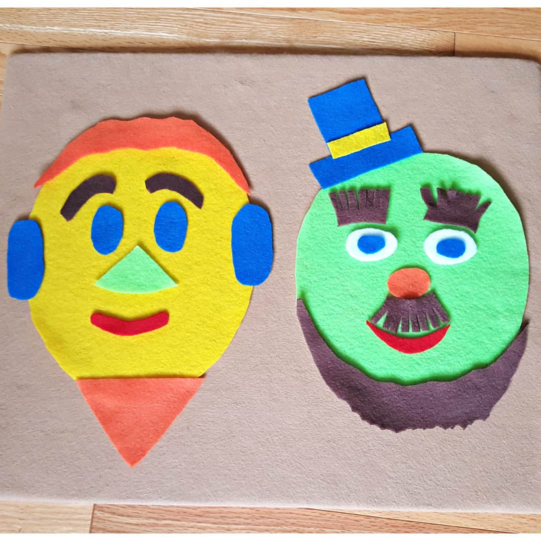 Felt faces toddler activity