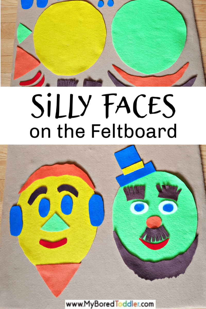 feltboard fun for toddlers - silly faces