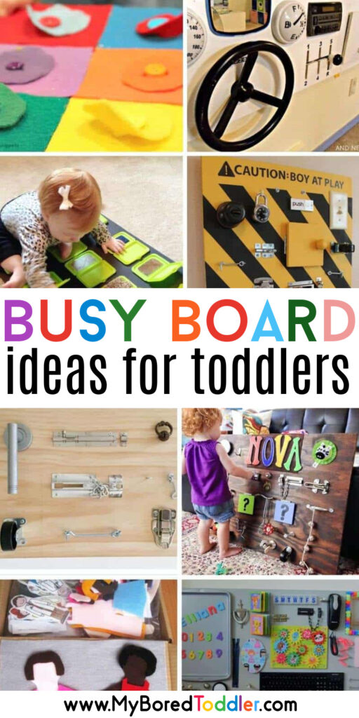 easy diy busy boards for toddlers to make at home