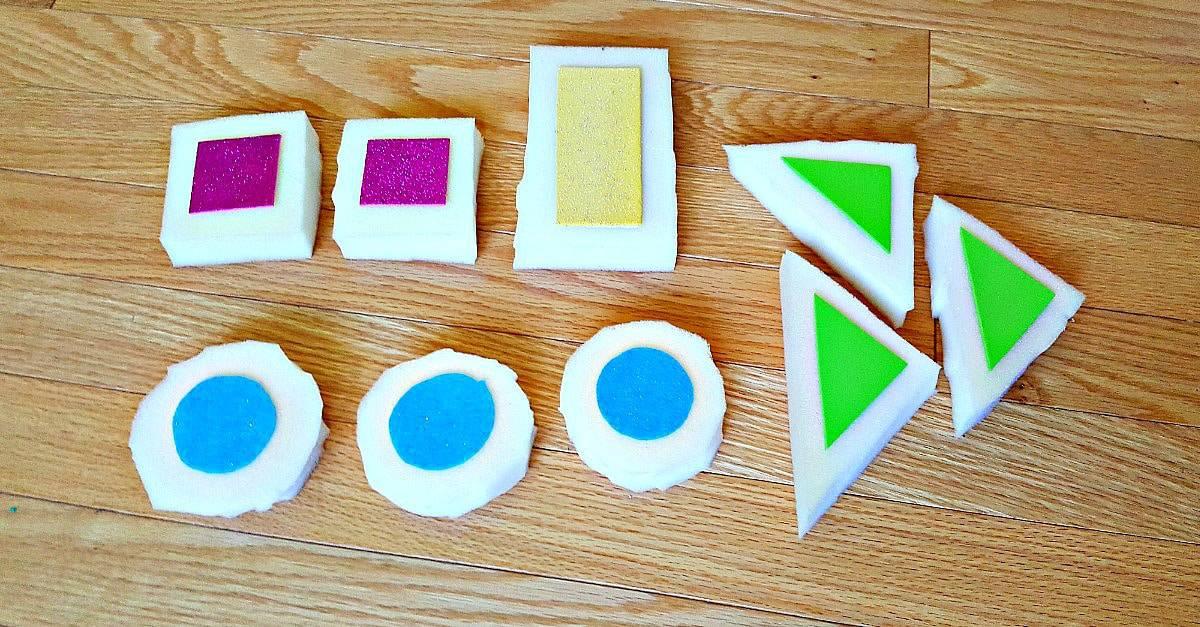 DIY Foam Blocks for Toddler Sensory Play