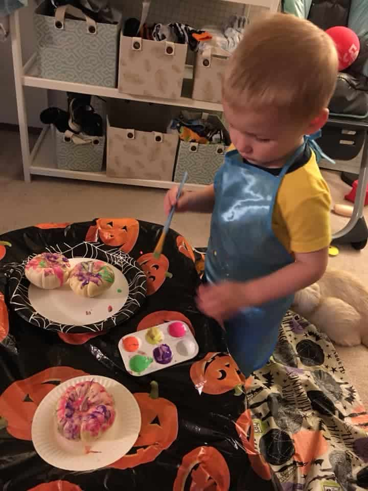 painting with pumpkins