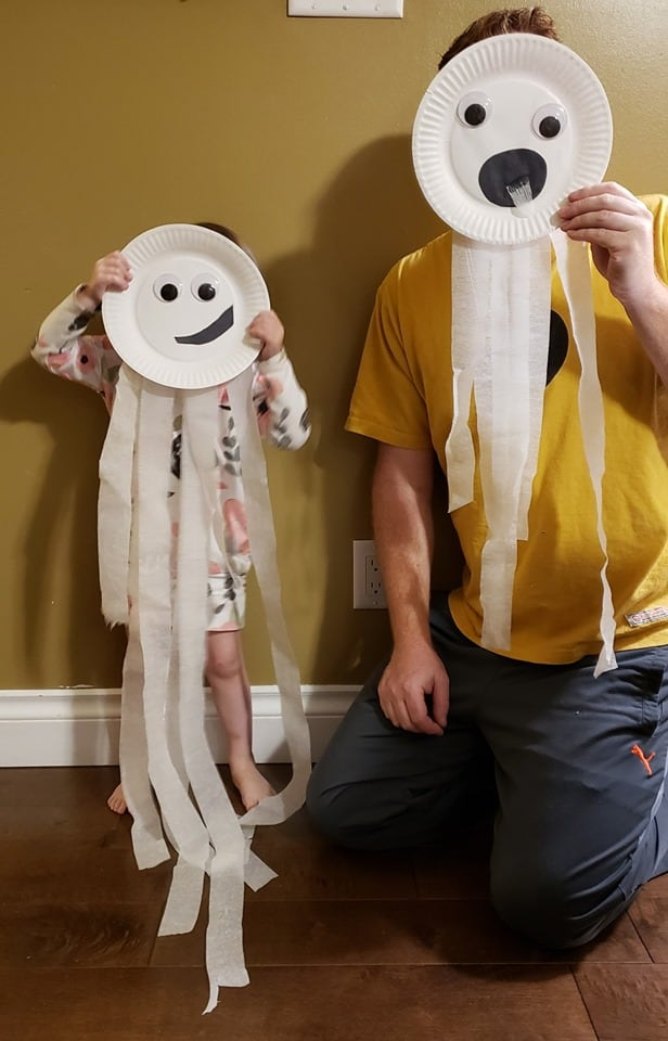 paper plate ghosts craft for toddlers