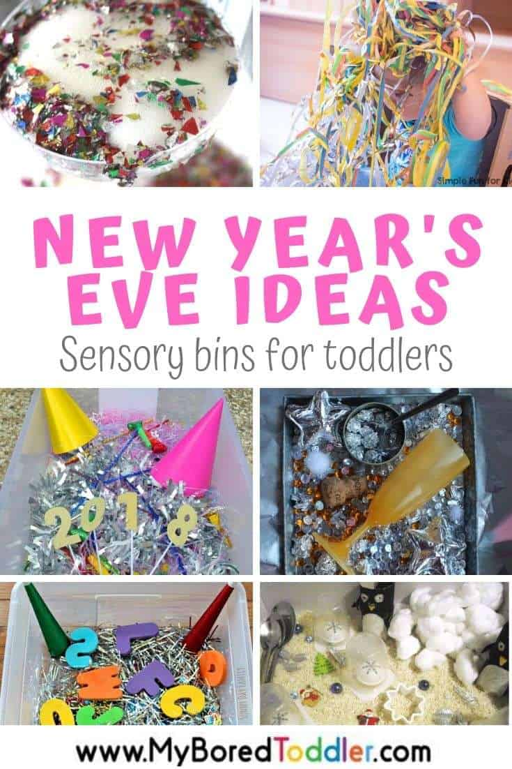 New Years Eve Sensory Bins for Toddlers