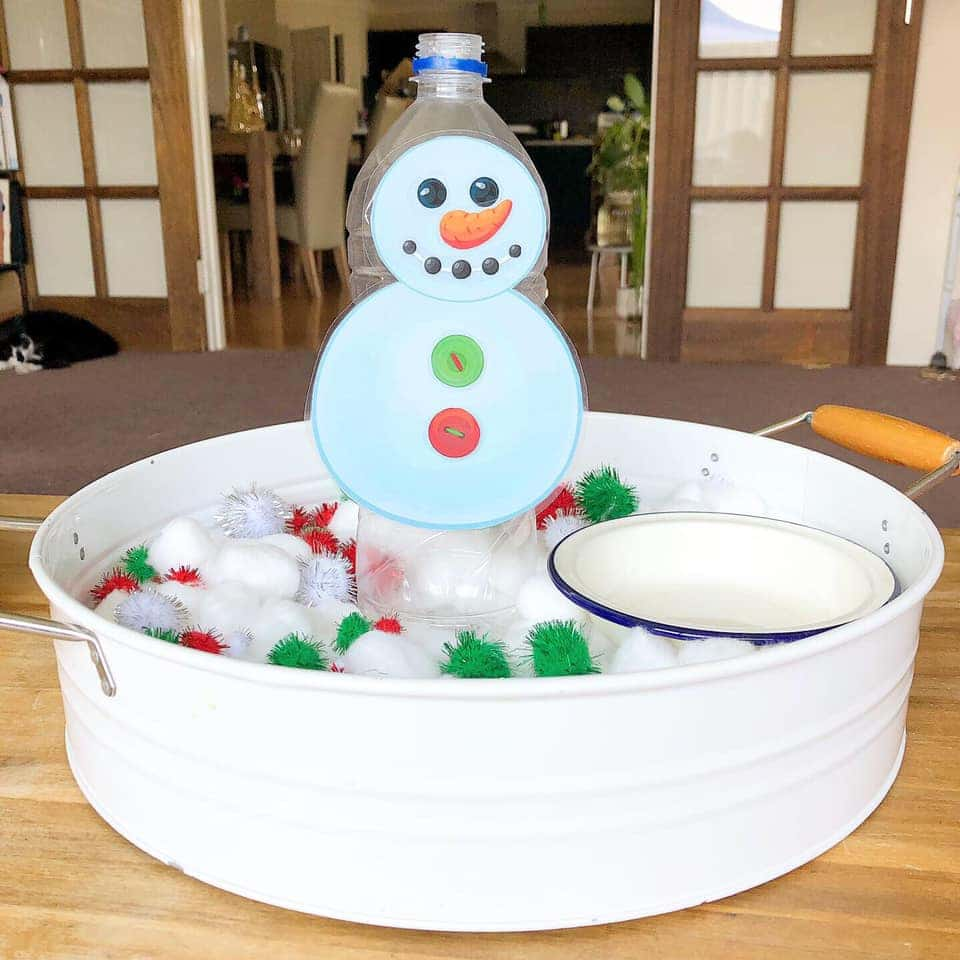snowman posting toddler activity