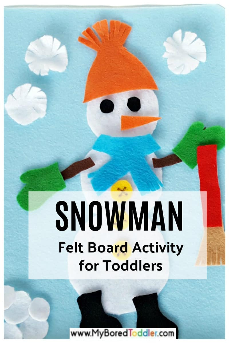 Snowman felt board activity for toddlers