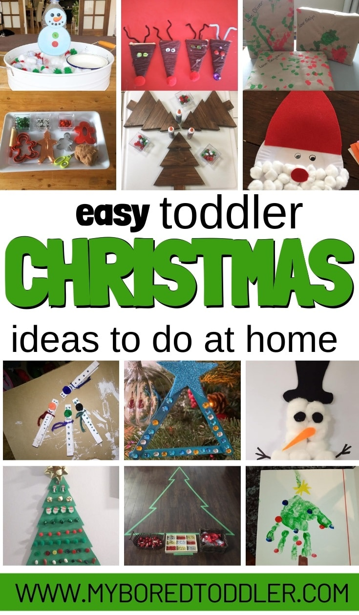 easy christmas toddler activity ideas to do at home pinterest