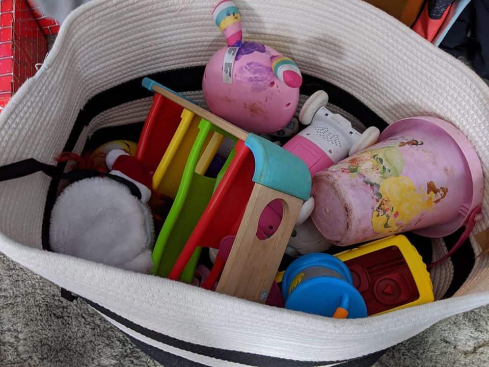 big basket for toy storage