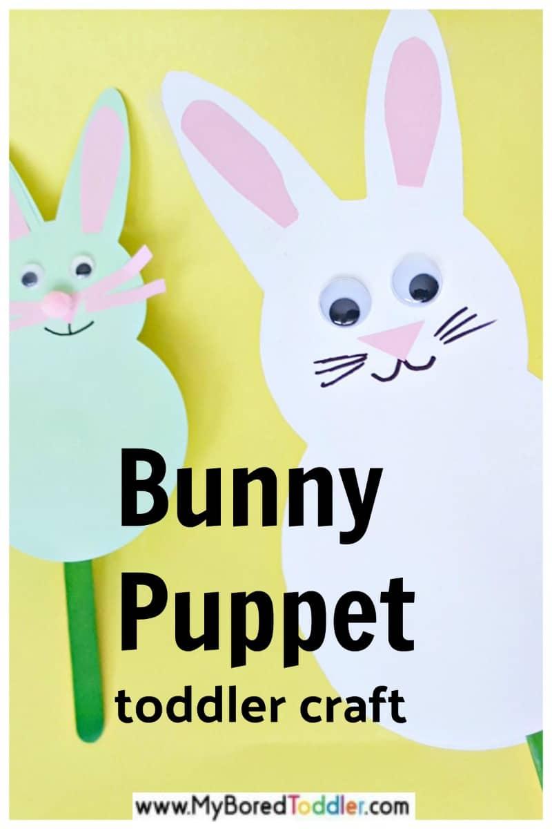 Bunny puppet toddler craft Spring season activity