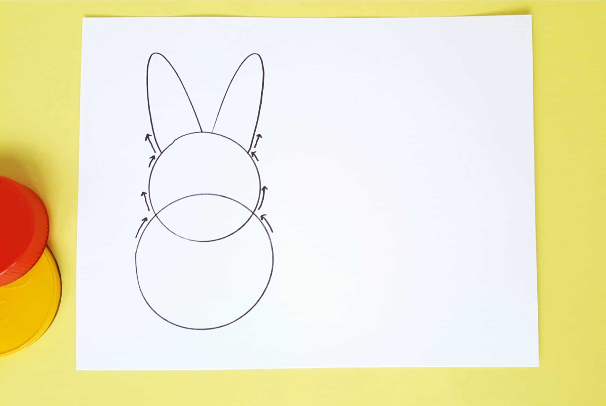 Bunny template for toddler craft