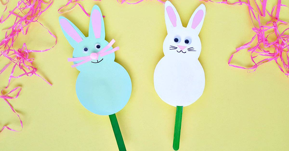 Bunny toddler craft for Spring