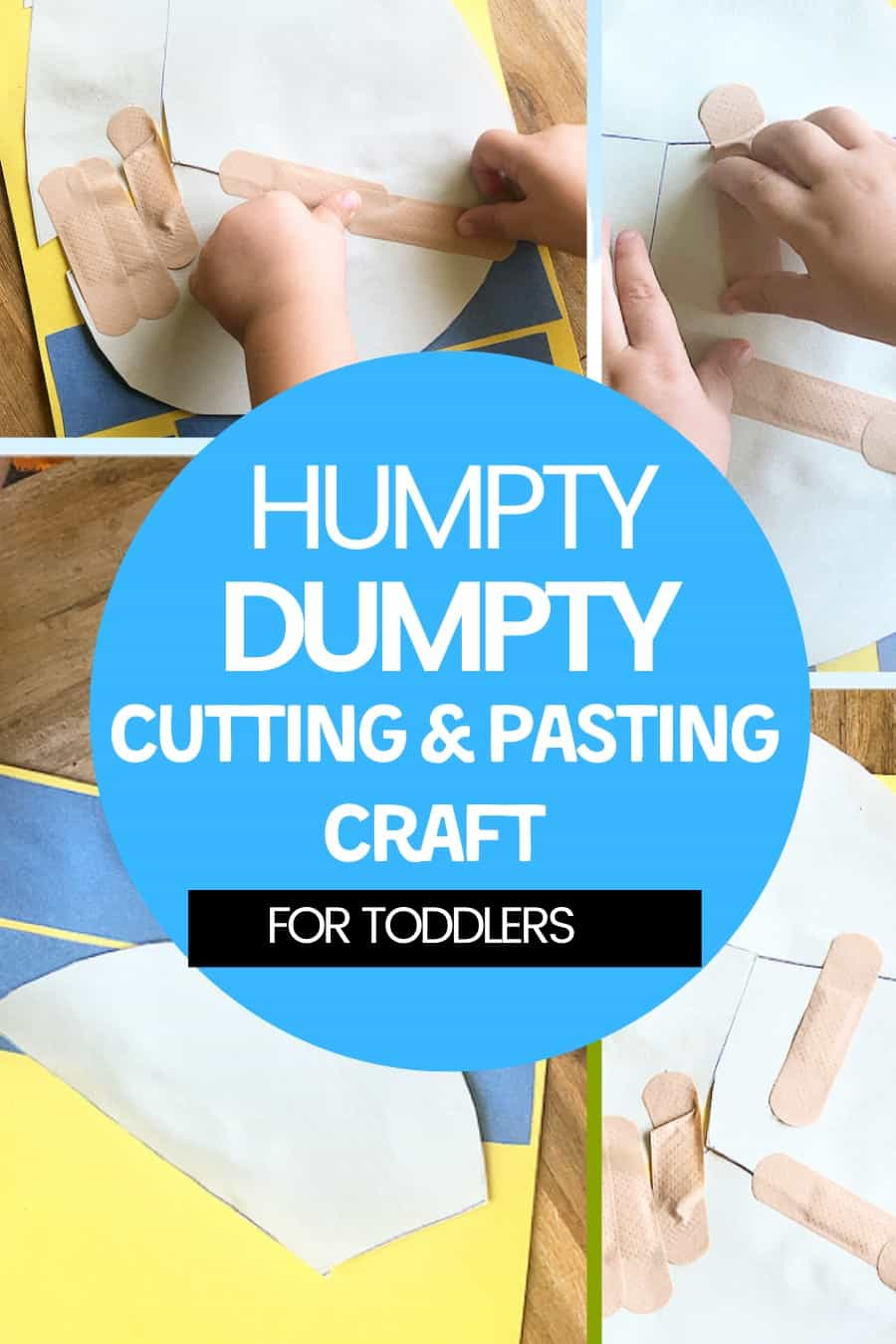 Humpty Dumpty cutting and pasting craft for toddlers