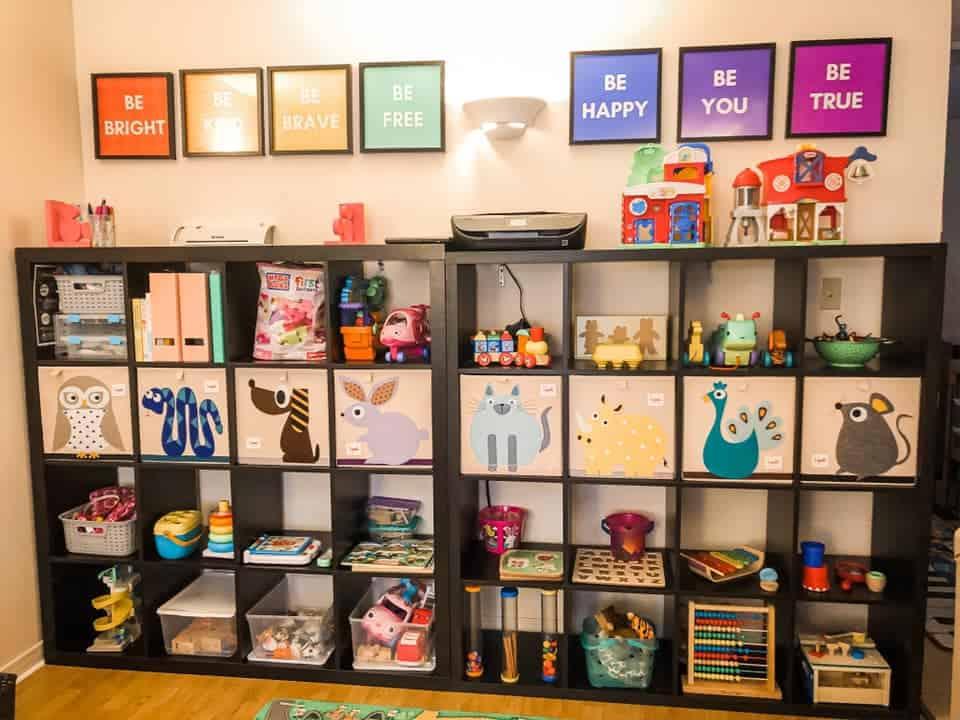 Danielle home day care ikea kallax shelves