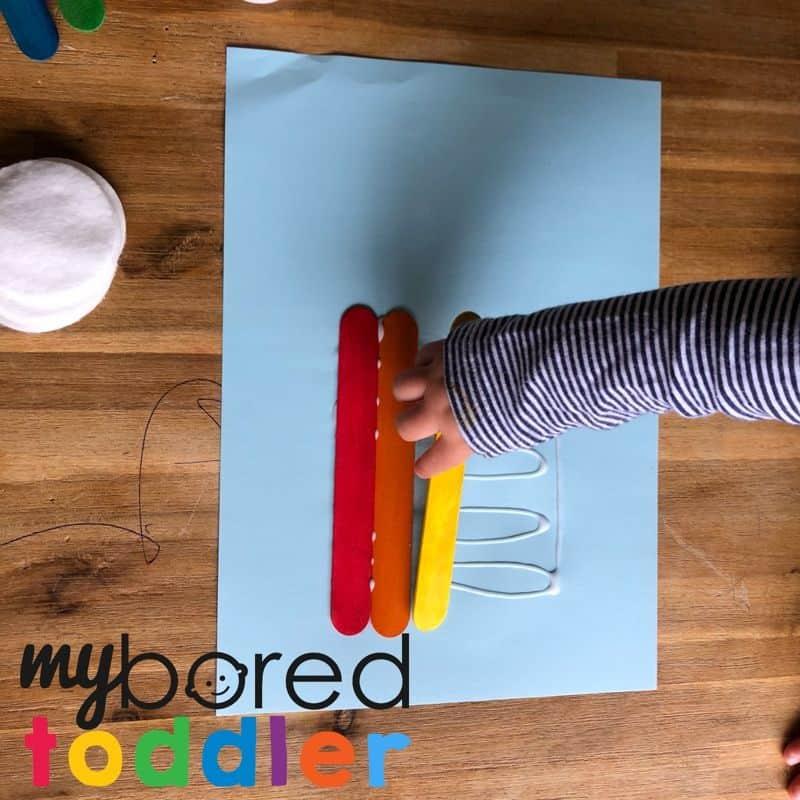 craft stick rainbow 3