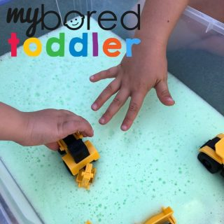 soap foam truck play toddlers