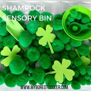 SHAMROCK SENSORY BIN for toddlers