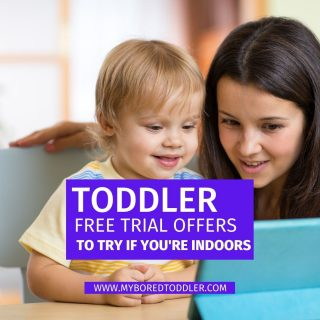 FREE trials to try when stuck indoors with a toddler