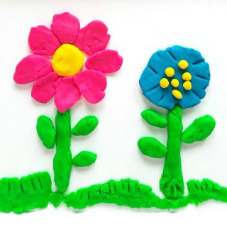 Play Dough Flowers Fine Motor Activity