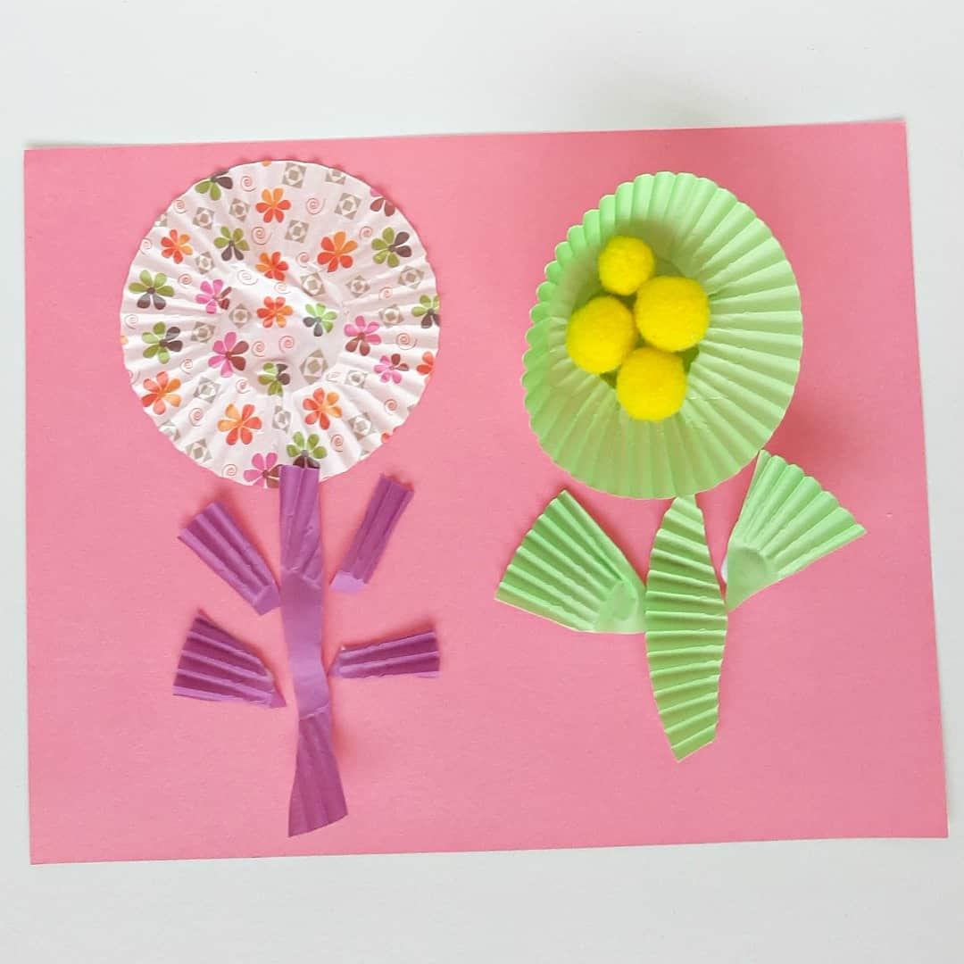 Summer Flowers Paper Craft for Toddlers