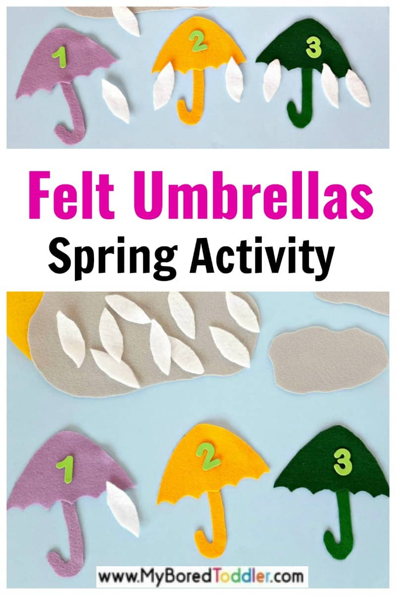 Felt Umbrellas Spring Activity