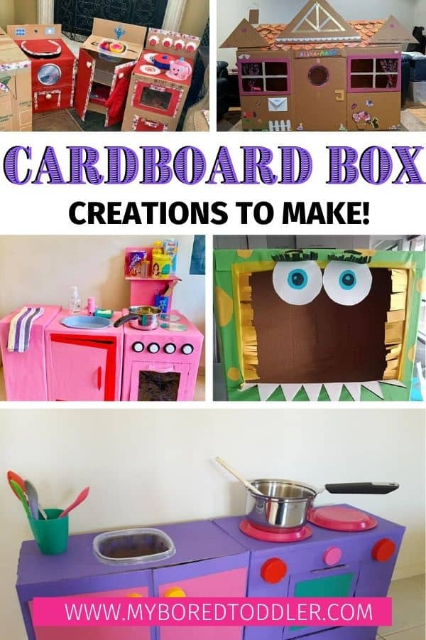 cardboard box creations to make at home pinterest 1