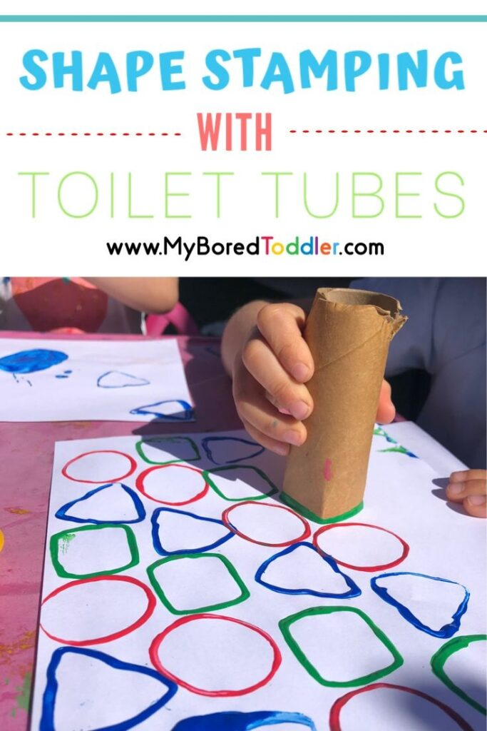 shape stamping with toilet tubes or toilet rolls pinterest