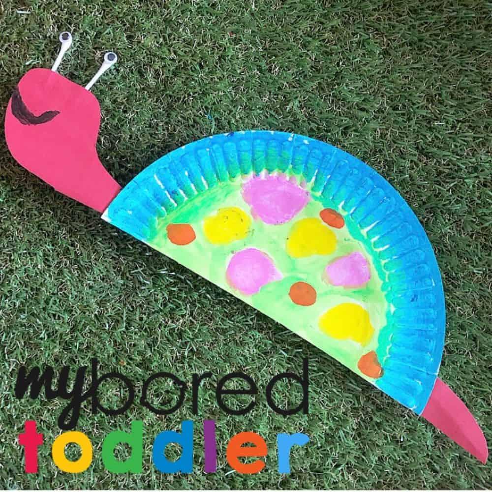 Rainbow Paper Plate Snail