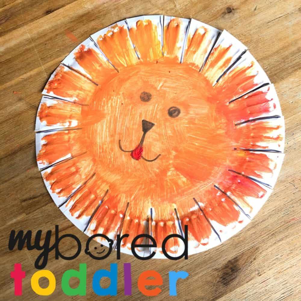 Color Blending Paper Plate Lion