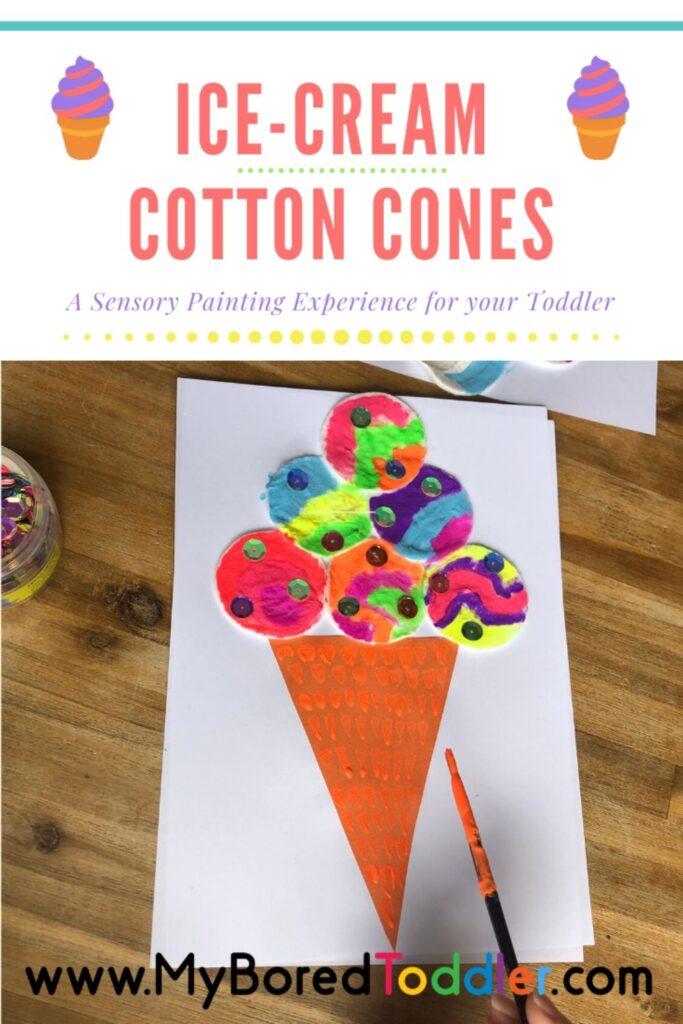 Ice-cream Cotton Cones