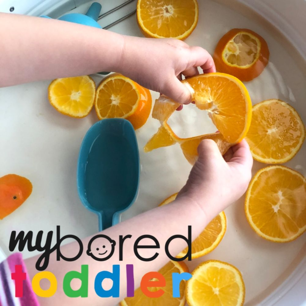 Orange Sensory Water Play