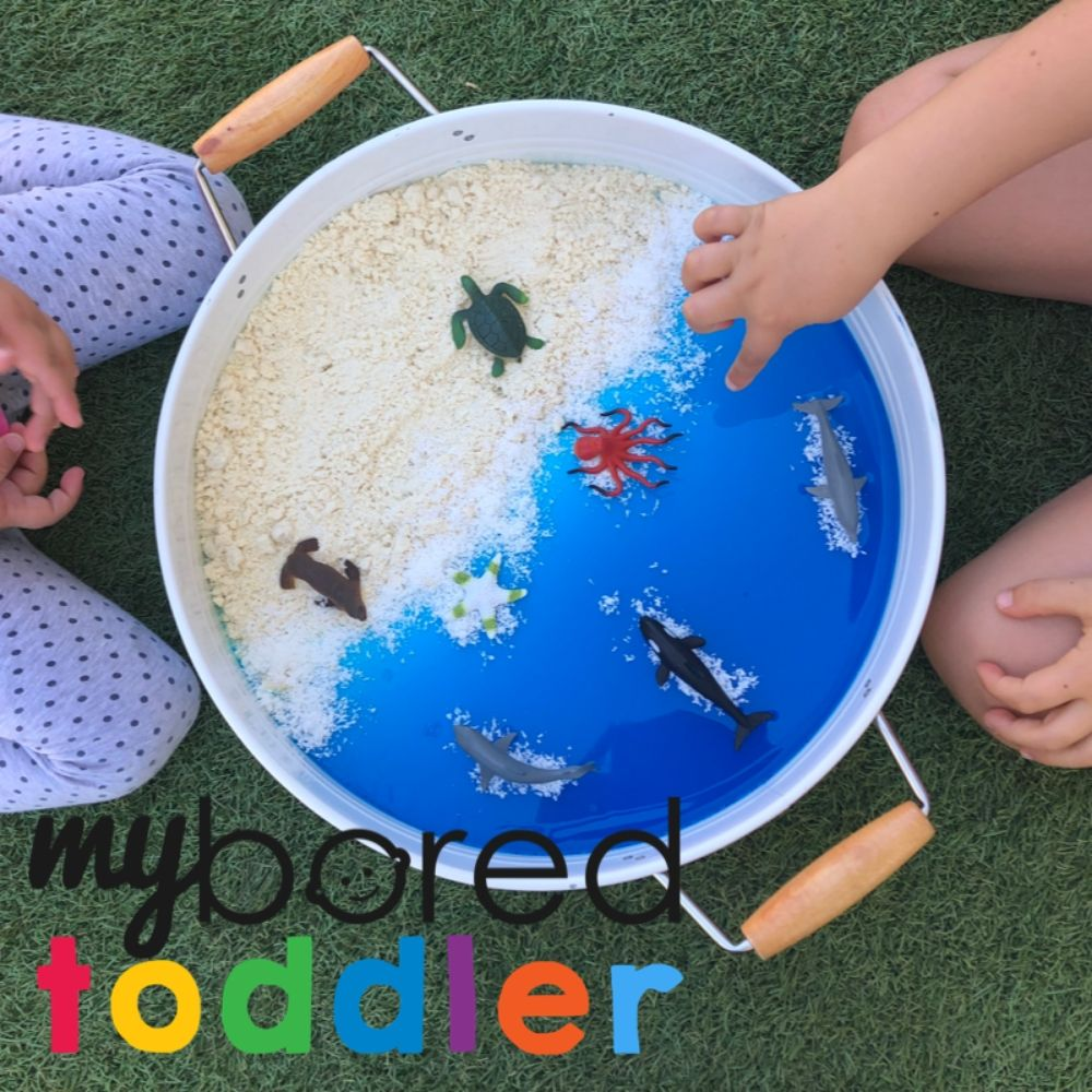 At the Beach Sensory Bin Idea