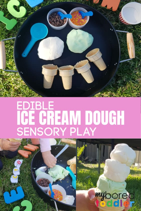 EDIBLE ICE CREAM DOUGH SENSORY PLAY PINTEREST TODDLERS
